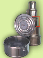 Бикс медицинский стерилизационный с фильтром КСКФ-9