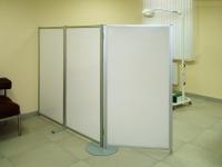 Ширма медицинсская 3-х створчатая на дисковой опоре 3KLN-1PO-1D-1850-1100
