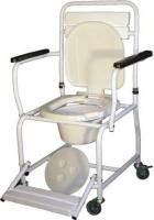 Стул-туалет на колесах с откидной сплошной подножкой ПТР СТРВ-210