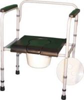 Стул-туалет складной с мягким сиденьем ПТР СТМС-110