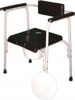 Стул туалетный с мягким сиденьем и спинкой ПТР СТМ-210