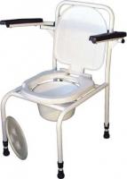 Стул туалетный с откидными подлокотниками регулируемый ПТР СТО-110
