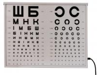 Таблица для проверки зрения АР-02М